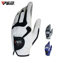 Wholesale golf glove left hand resale online - PGM golf men s golf super fiber left hand Gloves and gloves single non slip particles