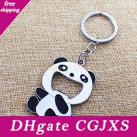 Wholesale panda key chain for sale - Group buy Cute Panda Key Ring Key Chain Novelty Portable Wine Soda Beer Bottle Opener For Women Men Birthday Christmas Gift No310