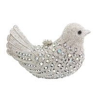 Wholesale lady bird bag for sale - Group buy Hot Sale Women Clutch bags Luxury Evening Bags Sparkly Crystal Colorful Bird Pattern Ladies Dinner bag Clutches Purse