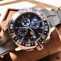 Wholesale quartz tachymeter watch resale online - Famous Watches Certified Chronometer TAG watch Grand Carrera CAUBRE tachymeter Relógios de luxo Gift stopwatch swiss Made Relog