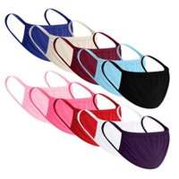 Wholesale Solid Color Face Mask Outdoor Sports Protective Respirator Dustproof Breathable Washable Face Cover Reuseable Unisex Cloth Mouth Mask DHF69