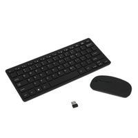 ingrosso ricevitore multimediale wireless-Multimedia 2.4G Wireless Micro USB di ricarica Mini Tastiera Mouse Combo ricevitore wireless USB Keyboard Mouse Set T190624