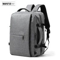 compartimentos de laptop mochilas venda por atacado-MOYYI Business Travel Duplo Compartimento Mochilas Multi-Layer com saco Digital único para 15,6 polegadas Laptop Mens Backpack Bags