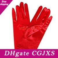 Wholesale wear gloves resale online - Colorful Bridal Short Gloves Women Lady Dance Performance Wear Gloves Wedding Party Dress Decoration