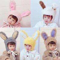 Wholesale cartoon earflap baby hat for sale - Group buy Baby Infant Winter Hats Newborn Girl Boy Warm Cartoon Earflap Knit Crochet Beanie M1106