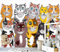Wholesale wallpaper cat for sale - Group buy 3d wall murals wallpaper custom mural on the wall Modern creative cute cat collection home decor photo wall paper for walls d