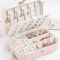 Wholesale korean lipstick style resale online - Makeup Jewelry Box Travel Comestic Jewelry Casket Organizer Makeup Lipstick Storage Box Beauty Container Necklace Birthday Gift
