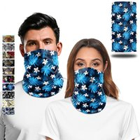 Wholesale tube bandanas resale online - Flower Print Bandana Scarves Elegant Outdoor Cosplay Face Scarf Tube D Floral Neck Gaiters Riding Hiking Bandanas Drop shipping