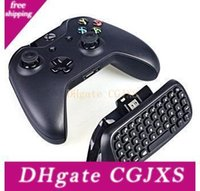 Wholesale mini xbox one controller resale online - 2 g Mini Wireless Chatpad Test Message Qwerty Keyboard For Microsoft Xbox One Controller Keyboard Adapter Receiver Retail Box Q2