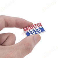 Wholesale pin badge sheets for sale - Group buy Donald Trump Brooch Trump Brooch Pins President Campaign Broochs Donald Trump Dome Lapel Pin Button Badges Keep America Great