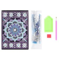Wholesale shaped notepads resale online - Personalized DIY Special Shaped Diamond Painting Sheets Students A5 Notebook without Lines Office Supplies Colorful for Gifts