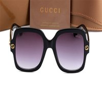 gucci hommes lunettes de soleil achat en gros de-0086 Gùcci New Square Luxury Sunglasses Men Women Fashion UV400 Glasses Pretty Original Luxury Glass Trendy Sun Glasse