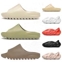 Wholesale womens slippers resale online - Foam Runner Kanye West Clog Sandals Triple Black White Slides Fashion Slippers Womens Mens Beach Sandals Flip Flops