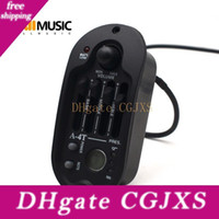 Wholesale A t Oval Band Eq Acoustic Guitar Preamp With Round Digital Procedding Tuner x44 mm Equalizer Guitar Pickup Rubber Oil Black