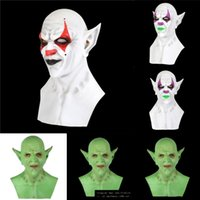 Wholesale full venetian masks resale online - RZcH2 Men with Masks Mask Creative Personality Venetian Masquerade Style Fashion Full Face Masks Clown Bells