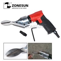 Wholesale pneumatic cutter for sale - Group buy ZONESUN Pneumatic Air Cutter Scissors Straight Two blade for Cutting Iron Sheet Sieve Meshes Stainless Steel C Tool Machine