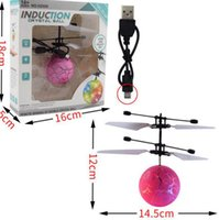 Wholesale aircraft electronics resale online - Flying Ball Toys RC Flying Ball LED Lighting Flashing Light Aircraft Helicopter Induction Toy Electronic Kids Toy Gifts Party Favor KKA8020