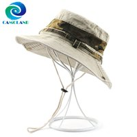 Wholesale boonie hats for sale - Group buy CAMOLAND Women Men Summer UPF Sun Hats Cotton Camouflage Bucket Hat Outdoor UV Protection Hiking Fishing Boonie Caps