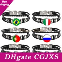 Wholesale football fans flags resale online - Russia World Football Cup Souvenirs National Flag Braided Bracelets Little Gift For Football Fans Gyh