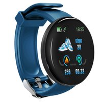 Wholesale round smart watches for android phones online – D18 Smart Watch Men Women Blood Pressure Round Smart wristband Waterproof Sport Smart Watch Fitness Tracker For Phone Android IOS
