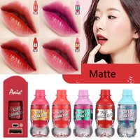 Wholesale nice lipstick for sale - Group buy Brand hot sales color lip tint idol soft drink tint Long Lasting Matte Lip gloss nice cute lipstick