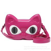 Wholesale cat bag resale online - Summer new women s shoulder jelly cartoon cute mini girl cat Shoulder strap small bagbag children s crossbody small bag