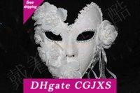 Wholesale venetian mask white for sale - Group buy Venetian Mask Masquerade Women Mask Princess Elegant Lace Plus Carnival Party Full Face Feather White Halloween Mardi