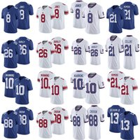jabrill pimientos jerseys al por mayor-8 Daniel Jones 26 Saquon Barkley 10 Eli Manning 13 Odell Beckham JR 21 Jabrill Peppers 88 Evan Engram Football jerseys