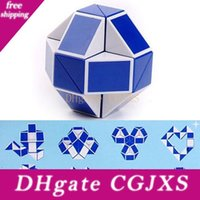 Wholesale new party games for sale - Group buy Mini Magic Cube New Hot Snake Shape Toy Game d Cube Puzzle Twist Puzzle Toy Gift Random Intelligence Toys Supertop Party Favor Wx T17