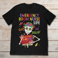 notaufnahmen groihandel-Emergency Room Nurse Leben Got Me Feelin Un Poco Loco Skelleton T-Shirt