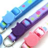 Wholesale custom dog collars for sale - Group buy New Pet Color Cat Buckle Collar Lollipop Collar Cat and Dog Collar Candy Color Human Neck Custom