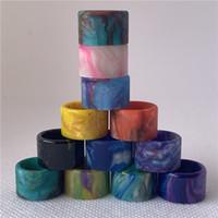 Ecig Vape Tip TFV8 Baby V2 Stick V9 Max TFV16 Tfv18 Epoxy Resin Drip Tips With Individual Candy Acrylic Box Package