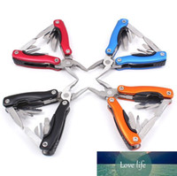 Outdoor Multitool Pliers Serrated Knife Jaw Hand Tools+Screwdriver+Pliers+Knife Multitool Knife Set Survival Gear SN1528