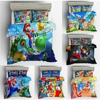 Wholesale 3d Super Mario Bros Bedding Set Children Cute Cartoon Character Printed Duvet Cover Set Bed Bed Linens Twin Full Queen King dGGh