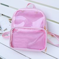 Wholesale ladies summer backpack for sale - Group buy Summer Fashion Women Backpack Transparent Student Bags High Quality Clear Versatile Backpacks Women Leather Bags Lady Travel BagX0923