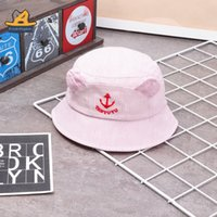 Wholesale baby clothes anchors for sale - Group buy G307 striped anchor baby basin spring fisherman hat Duoduo Fisherman hat clothing children s Children s Kingdom