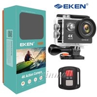 Wholesale waterproof camera lens resale online - New Package EKEN H9R Ultra HD K Action Camera G Remote Control M Waterproof Degree Wide Lens P pfs P P Sport Cam