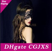 Wholesale sexy masks for ladies for sale - Group buy New Worldwide Black Sexy Lady Halloween Lace Mask Cutout Eye Mask For Masquerade Party Fancy Mask Costume For Halloween Party Cheap