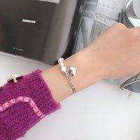 Wholesale bang bracelet for sale - Group buy E6zxM Japanese and Korean temperament Silver bracelet bracelet peach baroque bang women s heart sweet socialite style Sterling Love vNwRH