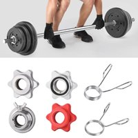 Wholesale olympic dumbbells resale online - Olympic quot mm Barbell Bar Clips quot mm Dumbbell Spinlock Collars Spin Lock Nut Gym Sport Barbell Bar Clips