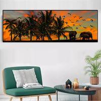 Wholesale landscape elephant painting for sale - Group buy Landscape Canvas Painting Nature Pictures Animal Posters and Prints Elephant Parrot Prints for Living Room Decor Bedside Decor