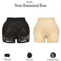 Miss Moly Invisible Butt Lifter Booty Hip Enhancer Body Shaper Padding Panty Push Up Bottom Shapewear Woman Modeling Panties 200922