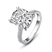 Wholesale wedding band for halo ring for sale - Group buy Cut Engagement Bridal Halo Band Wedding Setting Carat High Rings Cushion Sterling Luxury Silver For Y200106 Women Ring Ainoushi bbyYW