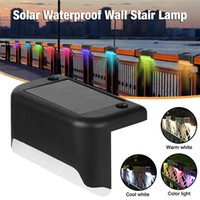 LED Solar Lamp Path Stair Outdoor Waterproof Wall Light Garden Landscape Step Deck Lights Balcony Fence Sunning Lamps