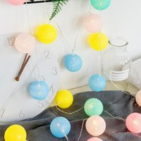Wholesale string light cotton ball for sale - Group buy Cotton Ball String Cute Fairy Lights m m m Outdoor Decoration Holiday Garland Christmas Globe Lighting Chain