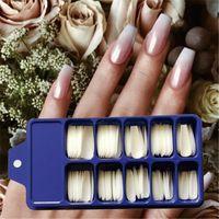 Wholesale oval full cover false nails for sale - Group buy Acrylic False Fake Nail Art Fingernail Oval Professional Full Fingernail Cover Card Nail Fasle Color Polish Art Full Z7Q7