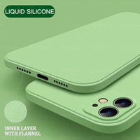 Wholesale Square Liquid Silicone Soft Case For iPhone Pro XR XS Max s Plus SE Color Phone Cover