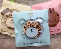 Wholesale gift bag adhesive resale online - New Festive Cute Cartoon Plastic Bag Wedding Birthday Party Favors Cookie Bags Gift Packaging OPP Self Adhesive Pouch Candy Bags