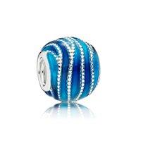 Wholesale swirl bracelet for sale - Group buy NEW Sterling Silver Authentic ENMX BLUE SWIRLS CHARM Bracelet Original Women Jewelry Gift