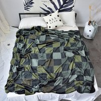 Wholesale bedspreads for queen resale online - Cube Fleece Blanket on The Bed Soft Flannel for Sofa Bedspread Throw Blanket